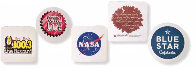 cheap custom paper coasters Print custom coasters with your logo or upload your own design, backed by a 100% customer satisfaction guarantee save on personalized coaster online printing today.